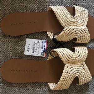 Zara boho sandals NWT